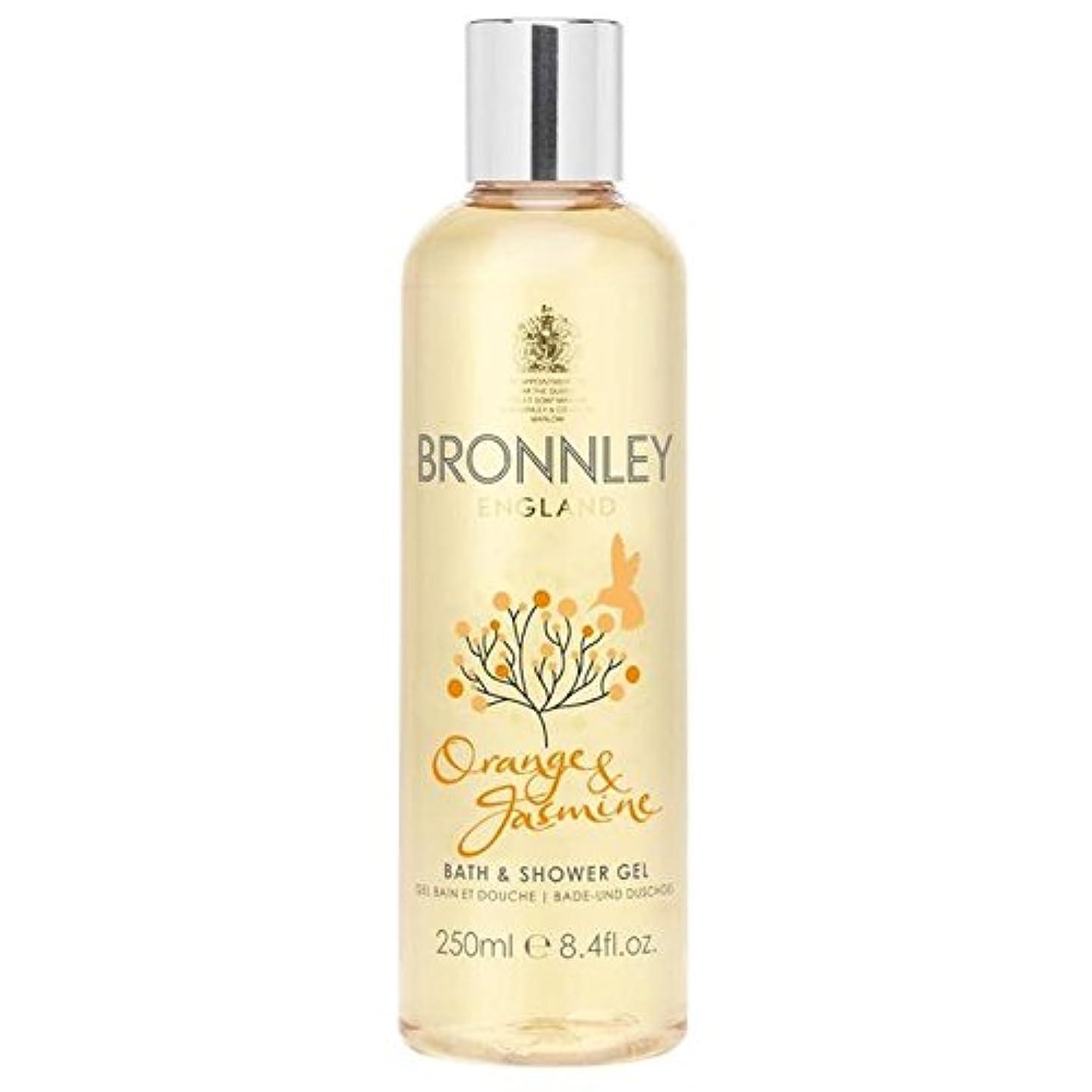 ビートストラップ盟主Bronnley Orange & Jasmine Bath & Shower Gel 250ml (Pack of 6) - オレンジ&ジャスミンバス&シャワージェル250ミリリットル x6 [並行輸入品]