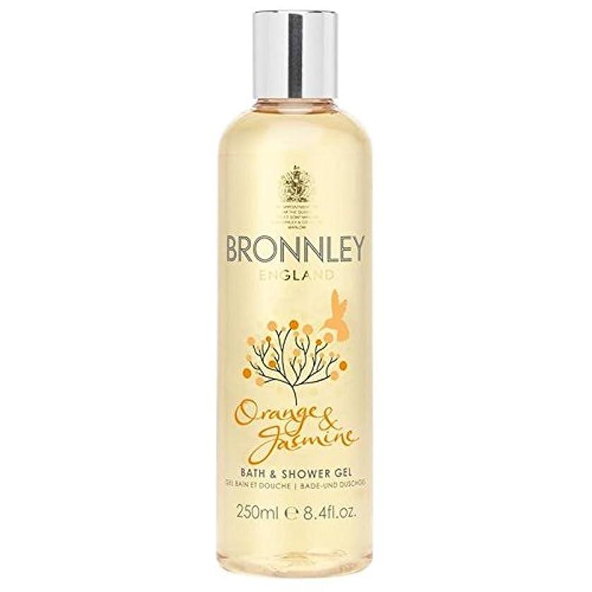 スライムドラゴンなんでもオレンジ&ジャスミンバス&シャワージェル250ミリリットル x4 - Bronnley Orange & Jasmine Bath & Shower Gel 250ml (Pack of 4) [並行輸入品]