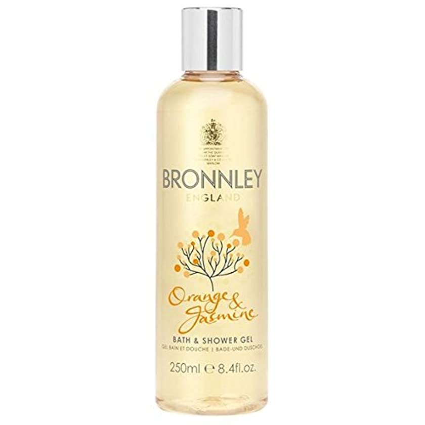 欠点脚本オーチャードオレンジ&ジャスミンバス&シャワージェル250ミリリットル x4 - Bronnley Orange & Jasmine Bath & Shower Gel 250ml (Pack of 4) [並行輸入品]
