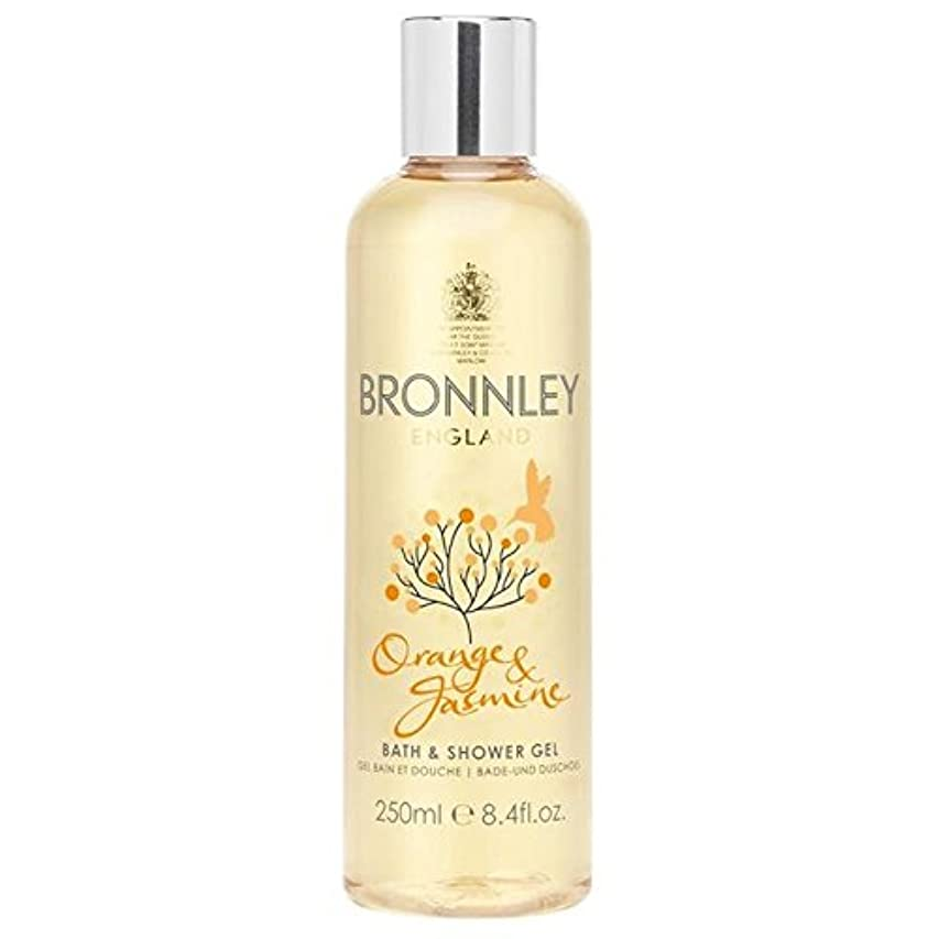 パドルインフルエンザ優しいオレンジ&ジャスミンバス&シャワージェル250ミリリットル x4 - Bronnley Orange & Jasmine Bath & Shower Gel 250ml (Pack of 4) [並行輸入品]