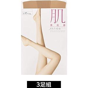 (アツギ)ATSUGI ストッキング ASTIGU(アスティーグ) 【肌】 素肌感 ストッキング 〈3足組〉 FP5880 ヌーディベージュ M~L