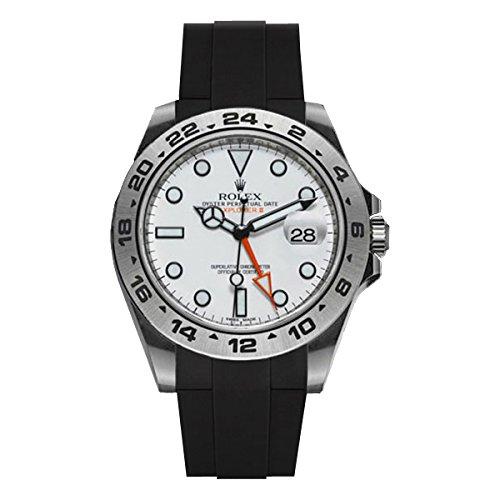 [ラバービー] RubberB ラバーベルト ROLEX エクスプローラーII(42mmモデルに適合)専用ラバーベルト(ROLEX純正バックルを使用)(ブラック)※時計は付属しません(Watch is not included)[並行輸入品]