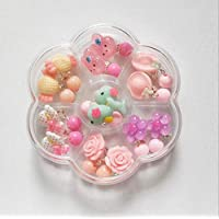 Auch 7 PCS Children Earing Clips Clip-on Earrings Girls Play Earrings Packed in 1 Clear Boxes