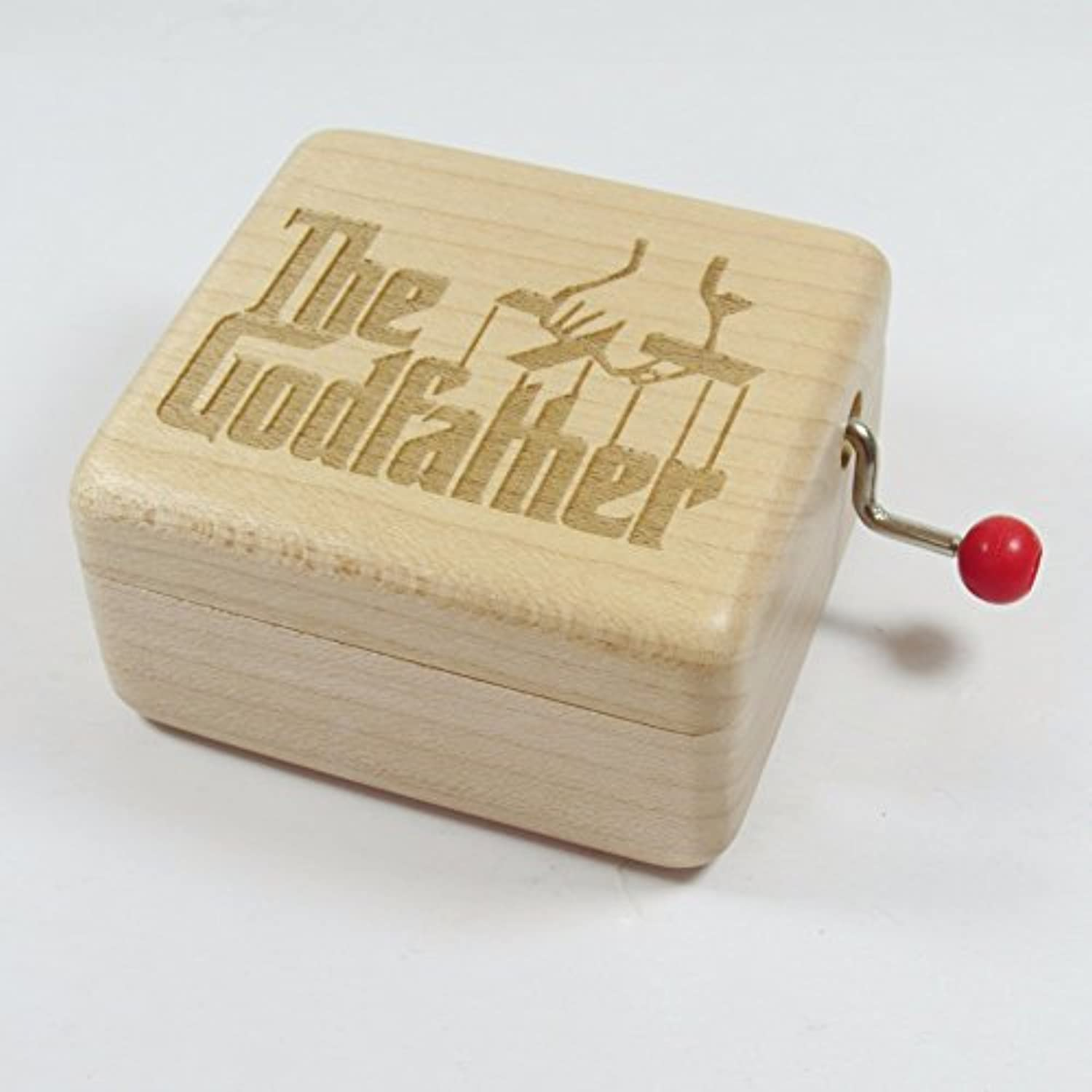 The Godfather木製音楽ボックス – 18 NoteメカニズムアンティークLaser Engrave Musical Boxs Crafts Melody Castle in Hand
