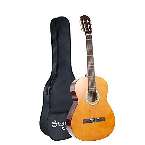 クラシックギター アコースティックギター 4/4サイズ Strong Wind 初心者 入門 ソフトケース付属 (39インチ)