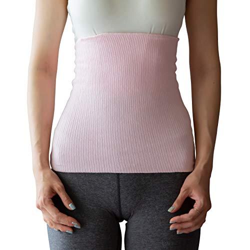 日本製 腹巻き メンズ レディース 男女兼用 薄手 はらまき 大きい サイズ 男性用 女性用 ユニセックス 綿 素材 (ピンクM)