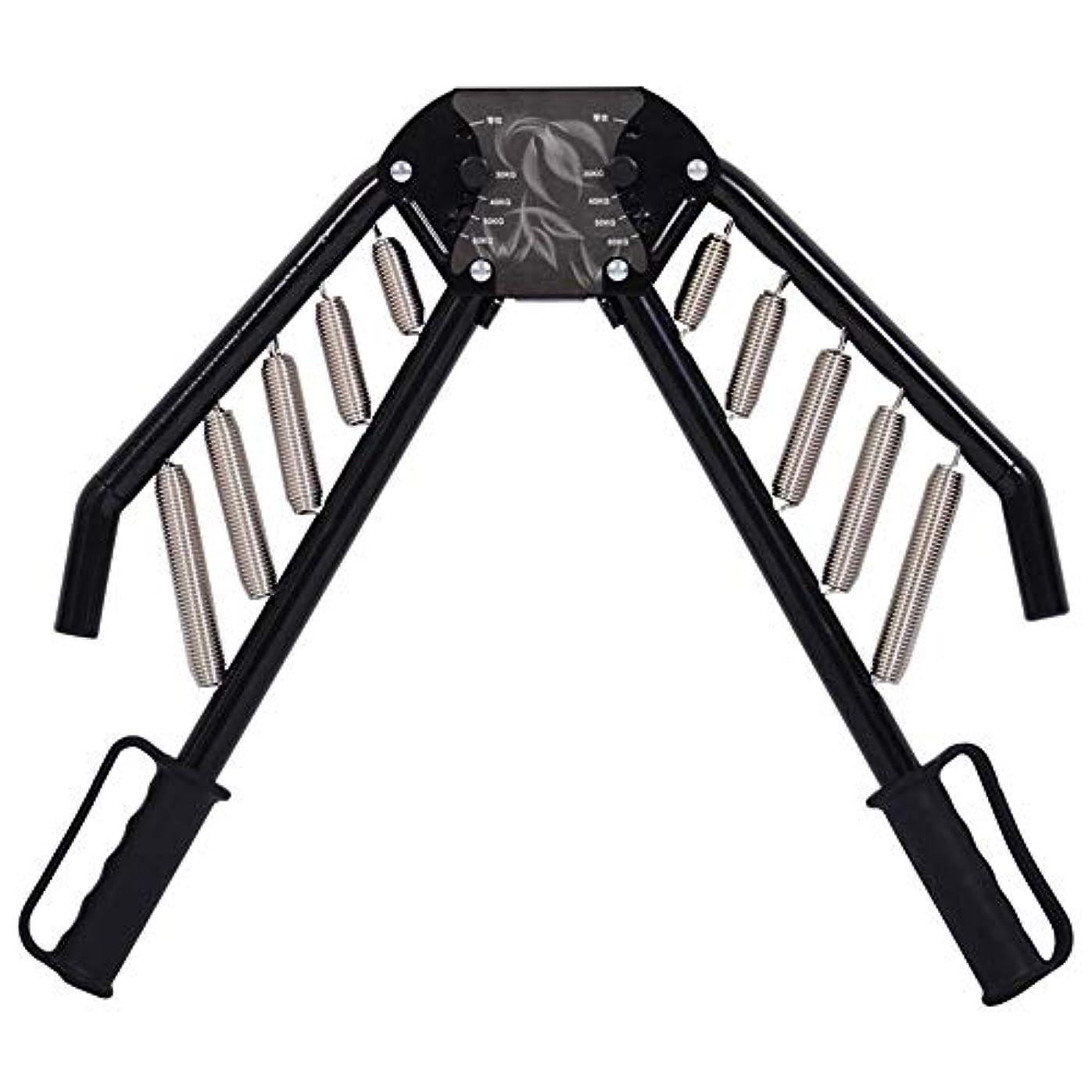 左広がりインド調節可能な抵抗のパワーツイスター春バー、腕の前腕エクセチェストエキスパンダー(30kgの - 60キロ)