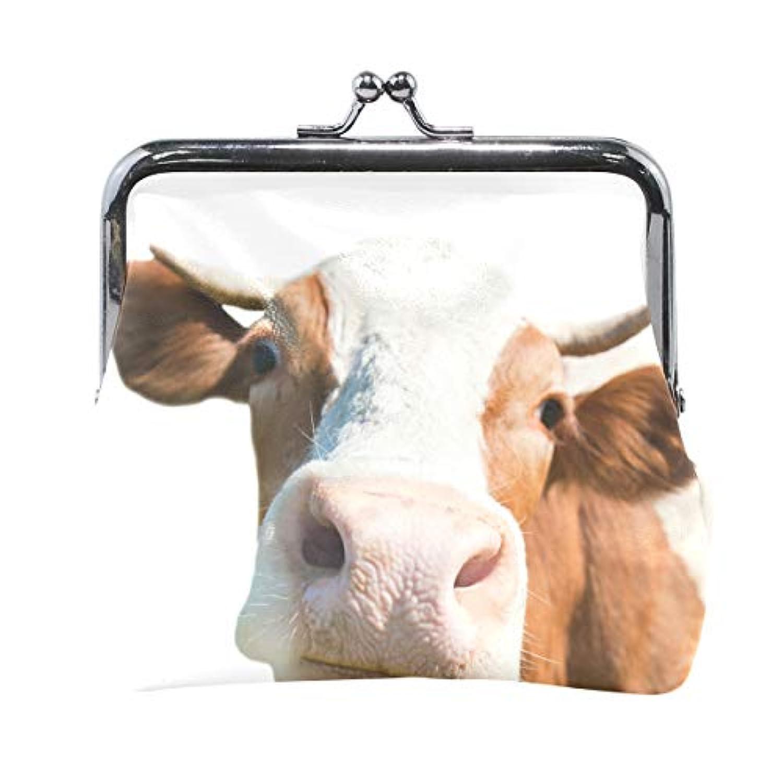 AOMOKI 財布 小銭入れ ガマ口 コインケース レディース メンズ レザー 丸形 おしゃれ プレゼント ギフト オリジナル 小物ケース 牛 牛柄 アニマル