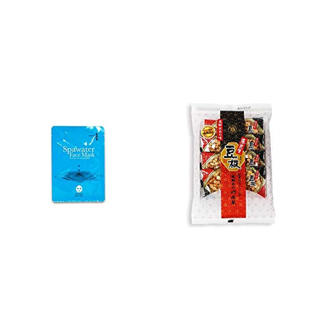 洪水鳥アイスクリーム[2点セット] ひのき炭黒泉 スパウォーターフェイスマスク(18ml×3枚入)?飛騨銘菓「打保屋」の駄菓子 豆板(8枚入)