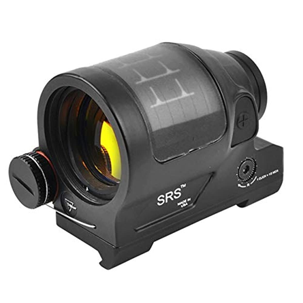 子羊ディスク不屈DeeploveUU 戦術的な1×38赤ドットスコープSrsソーラーパワー赤ドットサイト反射視力コリメーター視力狩猟スコープ