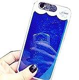 Lanjp iPhone 6/6s用夜光ケース きらきら光る ラメケース・カバー 着信光る流砂ケース 動く 流れ LED フラッシュ 衝撃吸収バンパー 携帯ケース 取り出し易い ドロップ防止 擦り傷防止 防塵 綺麗 ロマンチック ブルー