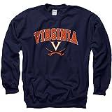 Virginia Cavaliers大人用アーチとロゴクルーネック – Navy
