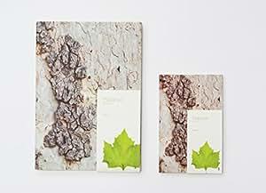 樹木の手触りをリアルに表現したデザインノート 【Woodpecker Note】 (Platanus プラタナス) (罫線あり) (Medium サイズ)