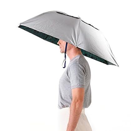 LWT 釣り傘 傘帽子 釣り用 フィッシング ガーデニング 折り畳み式 携帯便利 36インチ(92cm) (シルバー)