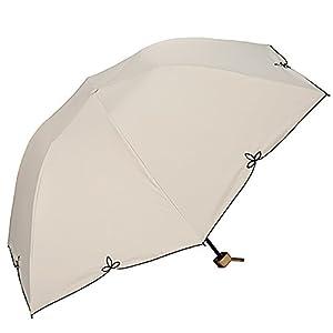 w.p.c (ワールドパーティ) 折りたたみ傘 手開き 日傘/晴雨兼用傘 遮光 バードケージ ワイドスカラップ 全2色 ベージュ 6本骨 55cm UVカット 99% 以上 軽量 コンパクト 801-656BE