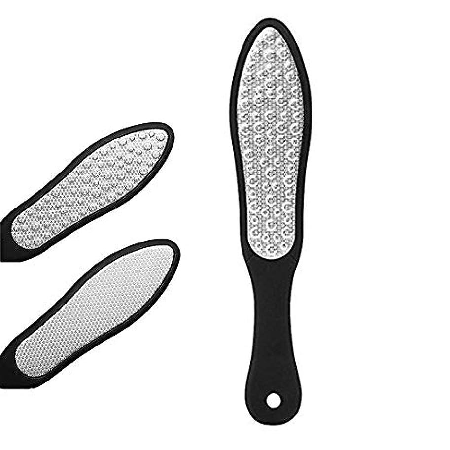 メタン戦闘戦闘フットファイル 角質リムーバー 角質やすり 魚の目削り 足 かかと削り ペディキュア用両面ヤスリ フットケア プロ用ステンレススチール