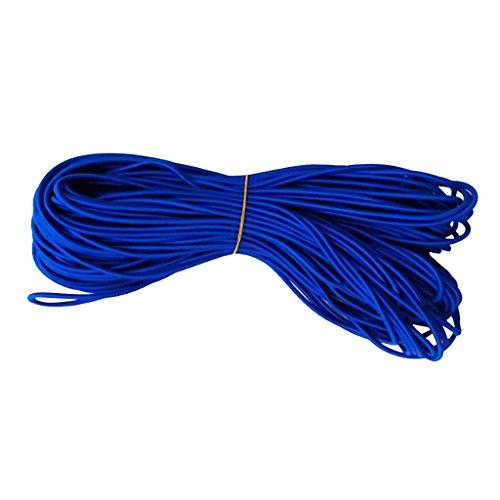Sharplace 5mm 青 弾性ゴム バンジー  ロープ ショック コード タイ ボート UV 安定 全9サイズ - 青, 75m