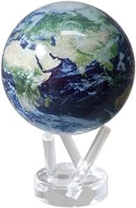 電源不要! ゆっくり回る不思議なエコ地球儀!MOVAグローブ 11cm【MG45STEC・サテライトビュー】