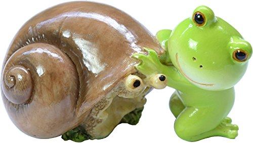 ロイヤルアーデン 置物・オブジェ カタツムリのトモダチ 65×4×4cm カエル 64316