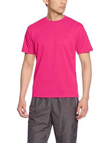 [グリマー] 半袖 メンズ 4.4oz ドライTシャツ (クルーネック) 00300-ACT ホットピンク SS (日本サイズSS相当)