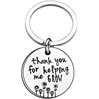 HENGSONG Plated Silver Keychain Key Chains Handbag Key Ring Car Keychain For Christmas Valentines Gift Thank you for helping me grow