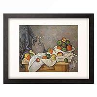 ポール・セザンヌ Paul Cezanne 「Rideau, cruchon et compotier」 額装アート作品