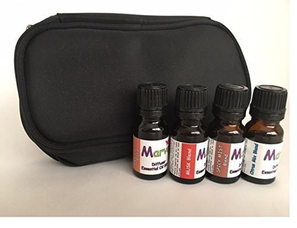 鼓舞するスラム報復するAroma Diffuser essential oil blends- CASE with SCENTS FOR HIM kit- 100% pure oil [並行輸入品]