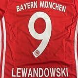 ≪クリックポスト≫大人用 A022 バイエルンHOME LEWANDOWSKI*9 レヴァンドフスキ 赤 18 ゲームシャツ パンツ付