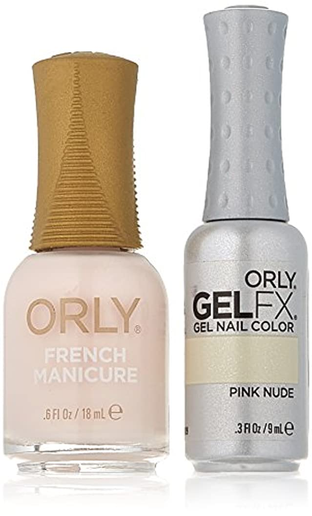 リボン冷笑するタヒチOrly Nail Lacquer + Gel FX - Perfect Pair Matching DUO - Pink Nude
