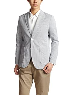 Beams Cordlane 2-button Jacket 51-16-0016-012: Blue
