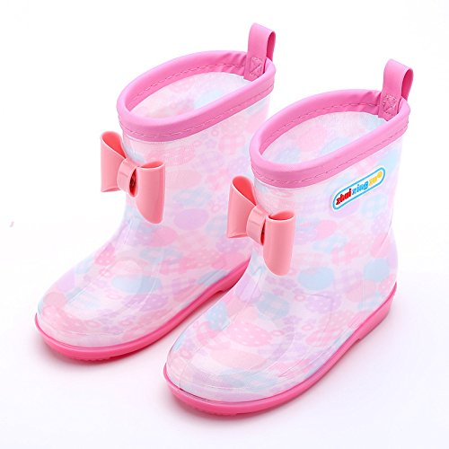 Kishiya レインブーツ 子ども用 雨靴 キッズ用 可愛...