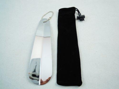 携帯用 靴べら 無地シルバー ステンレス 製