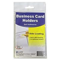 自己粘着ビジネスカードホルダー、サイドロード、3–1/ 2x 2、クリア、10/パック、として販売10各