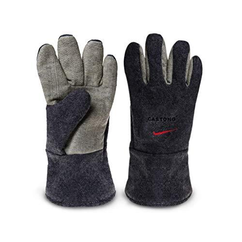 Protective gloves 300度断熱手袋、高温耐性手袋、難燃性、耐熱設計、ホット工業加工に最適/グレー XBCDP