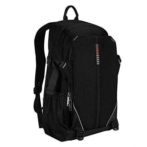 Niksa バックパック リュックサック PCバッグ アウトドア 登山 旅行 通学 通勤 ビジネス 多機能 大容量 防水素材 男女兼用 ブラック