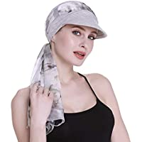 FocusCare Newsboy Cap for Women Chemo Headwear with Scarfs Gifts Hair Loss Available All Year