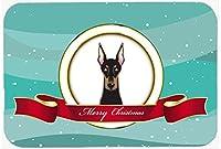 Caroline 's Treasures Doberman Merryクリスマスマウスパッド、ホットパッドまたは五徳、マルチカラー( bb1555mp )