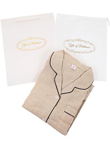 (ギフツオブブリリアンス) Gifts of Brilliance パジャマ レディース 長袖 二重ガーゼ ギフト セット (2) Lサイズ (対象身長目安: 155-165cm), ブラウン) PJ_2099