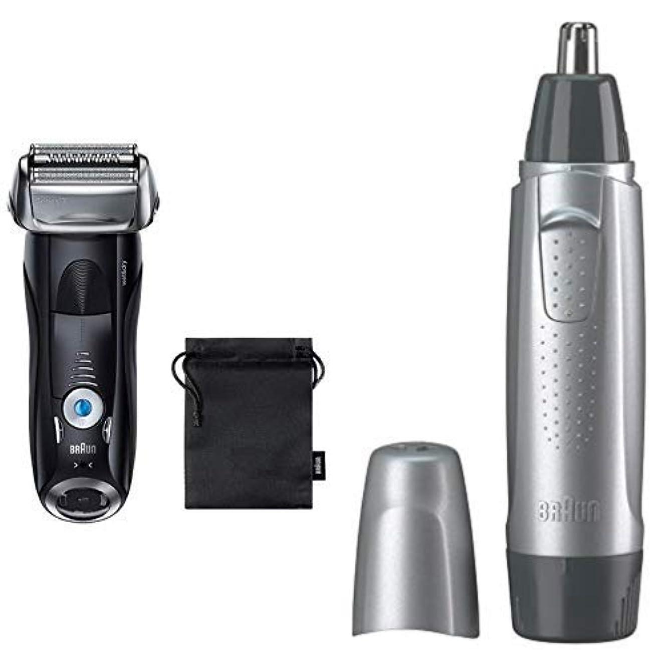 エージェントブラインドクスクス【セット買い】ブラウン メンズ電気シェーバー シリーズ7 7842s-P + 鼻毛カッター EN10