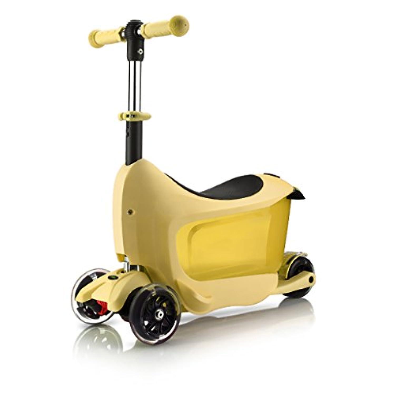 YONGLIANG 子供のスクーター速度の旅客2-3歳の赤ちゃんは、3つの1つを押すことができます4輪のフラッシュ多機能ペダルスライディングブロック