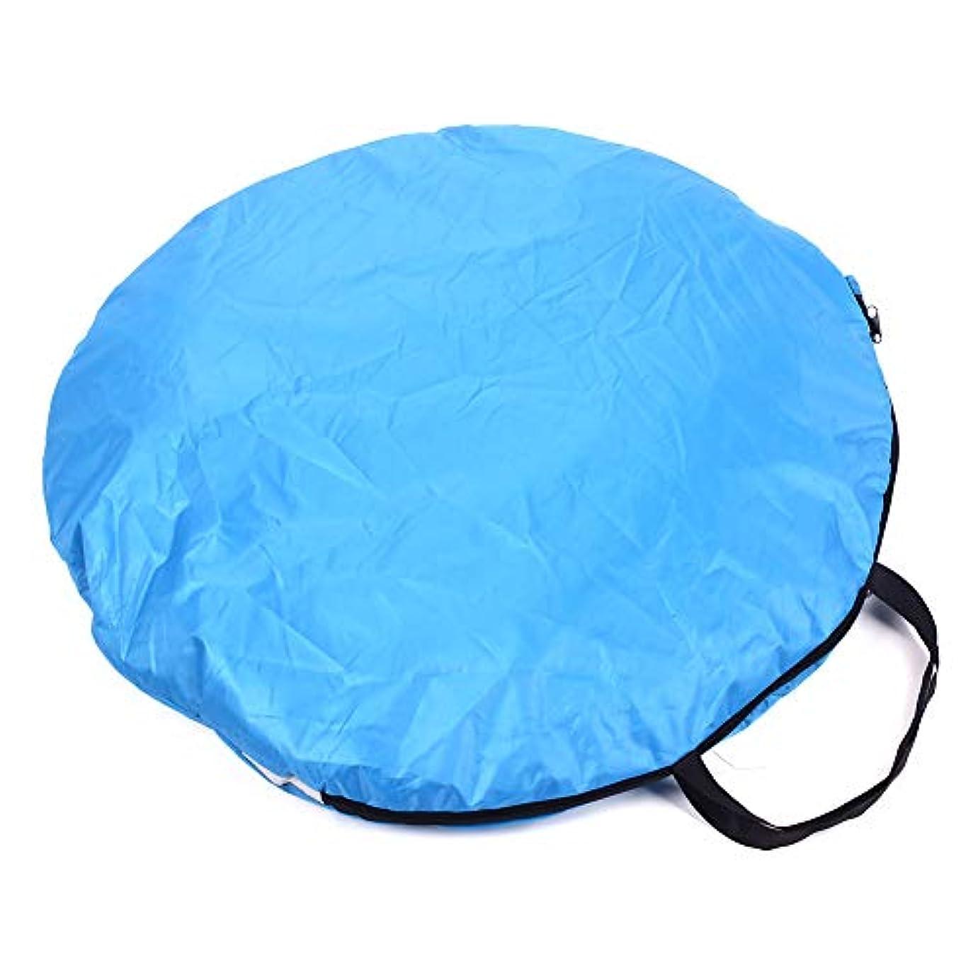 弱い批判的に彼らDuoying ピラミッドテントブルー3人で耐久性のある折りたたみテントハイキング