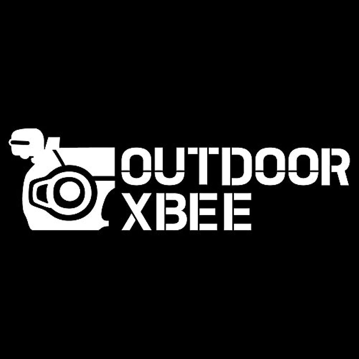 欠乏箱進捗imoninn SUZUKIクロスビー用 カッティングステッカー(OUTDOOR XBEE) 白色