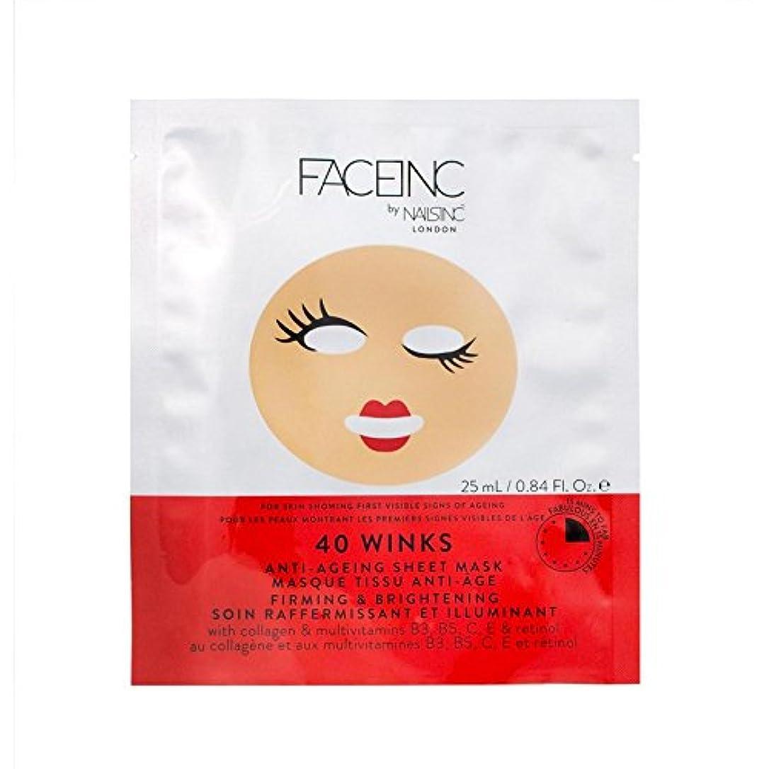 返還盲目決定的Nails Inc. Face Inc 40 Winks Mask (Pack of 6) - 爪が株式会社顔株式会社40のウィンクは、マスク x6 [並行輸入品]