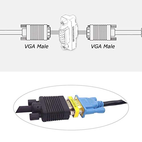 『【4個セット】 小型アダプタ D-Sub15ピン(ミニ)メス × D-Sub15ピン(ミニ)メス [VGA端子]』の4枚目の画像