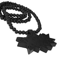 ウッド Style Bead Chain - POW ブラック