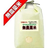 30年産 無農薬米 滋賀県産 コシヒカリ 5kg 無農薬栽培/無化学肥料栽培米 (玄米のまま(5kg))