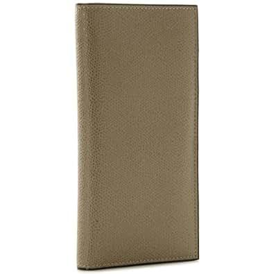 Valextra(ヴァレクストラ) 財布 メンズ グレインレザー 2つ折り長財布 グレーベージュ V8L21-028-00TO[並行輸入品]