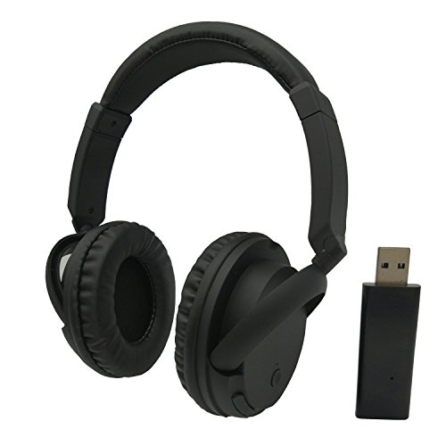 TV / PCワイヤレスヘッドセット、lovepea充電式over-earゲーム用ヘッドホンヘッドセットwith送信機for PCテレビ、3.5MMオーディオコネクタの電話