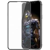 iPhone X/XS ガラスフィルム アンチグレア 全面保護 3D フルカバー Apona 液晶保護フィルム 強化 【日本製素材旭硝子製】 極薄0.3mm 高透過率 9H指紋防止 耐衝撃 5.8インチ (ブラック)