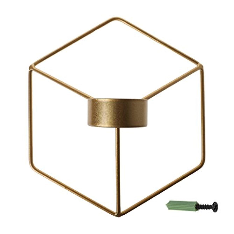 曲げる迫害するウェーハSimpleLife 北欧スタイルの3D幾何学的な燭台の金属の壁のキャンドルホルダーSconceホームインテリア